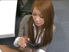 Japanese office lady make porn