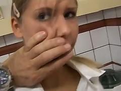 Girl groans as doctor fucks her pussy