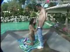 Latina Fuck On The Poolside