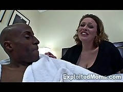 Busty Mom in Amateur Interracial Video