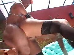 Midget fucks in stochings