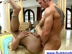Masseuse gets paid by an assfucking