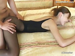 Designation scretary fucked in leotard pantyhose