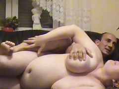 German BBW Pregnant Anal on the Couch fucked