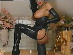 Hot leather fetish slut
