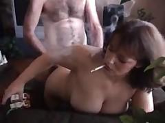Hot Mature Amateur Smoking Doggy-banged