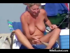 Sexy times on the nudist beach