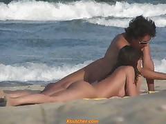 Nudist Couple On A Beach