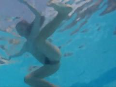 Nudist girls underwater