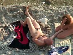 Beach sex 2 couples