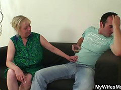 Cock energized ma jumps vulnerable her son vulnerable undertaking