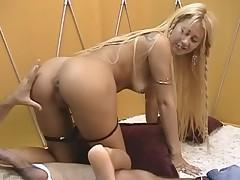 Blonde brazilian gets her soles creamed