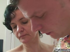 Granny surprised by younger boy