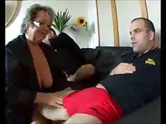 French Granny Seduces Two Big Guys by TROC