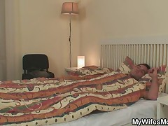 Cock hungry granny is fucked by son in law