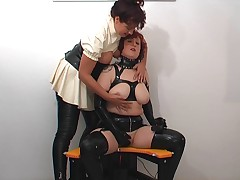 3 sluts on machine chair